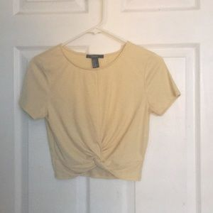 Tops - Yellow Crop Top